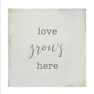 """NEW """"Love Grows Here"""" canvas wrapped wall art"""